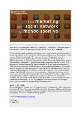 MARKETING E I SOCIAL NETWORK NEL