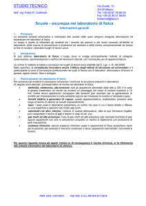 sicurezza laboratorio di fisica