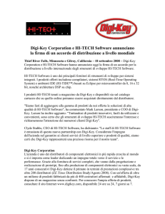 Digi-Key Corporation and Hi-Tech Software Announce Distribution