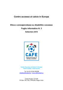Etica e disabilità - Centre for Access to Football in Europe