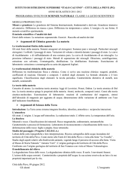 1a scienze naturali