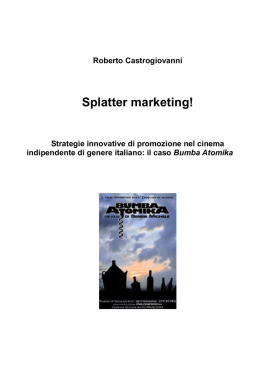 Splatter marketing!
