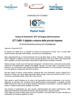 ICT Caffè - Camera di Commercio Pavia