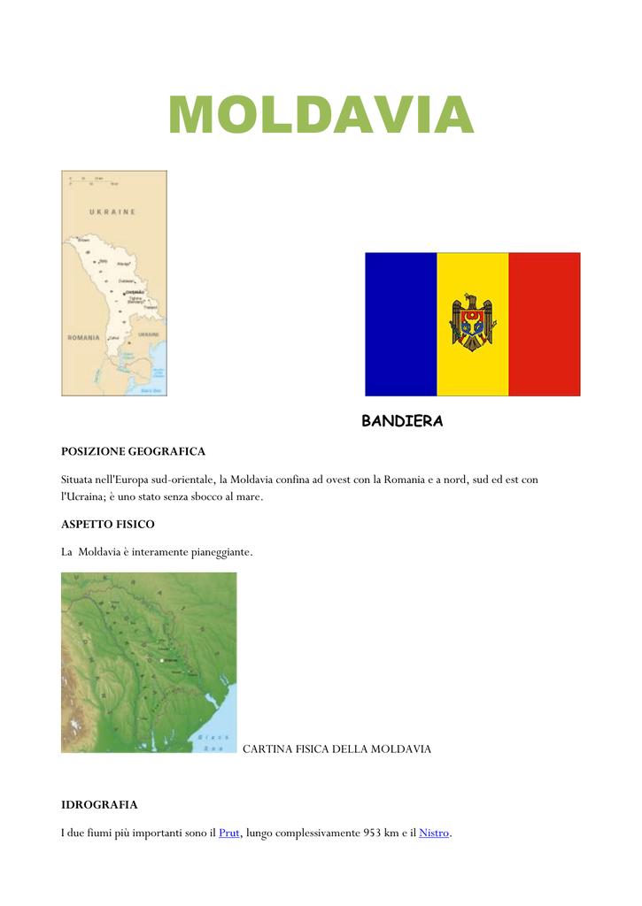 Cartina Geografica Fisica Della Romania.Moldavia