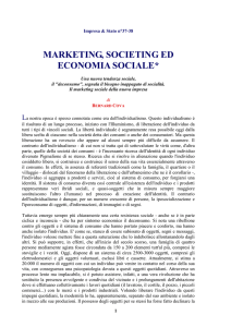 Marketing, Societing ed economia sociale