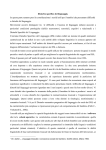 Disturbo specifico del linguaggio