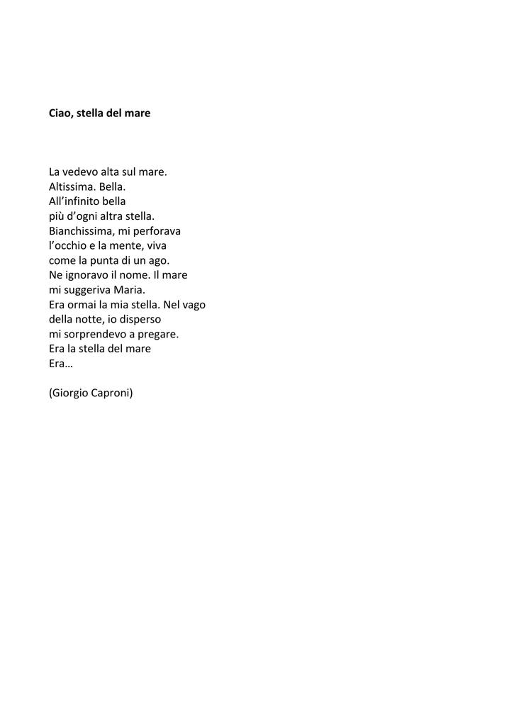 Risultati immagini per poesia più bella di giorgio caproni
