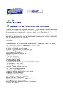 WEB MX DEVELOPER DREAMWEAVER MX: Dinamic Application