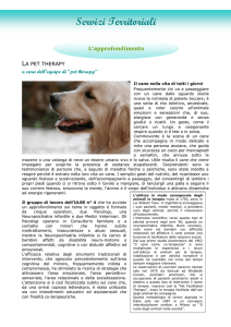 Cos`è la Pet Therapy