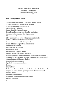 I BS_programma_fisica - Liceo Scientifico