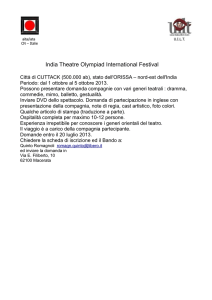 aita/iata U.I.L.T. CN – Italie India Theatre Olympiad International