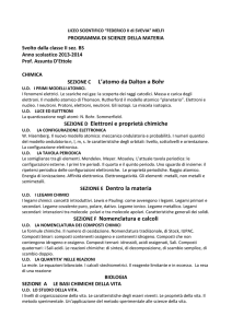 programma di scienze II BS 2014 - Liceo Scientifico