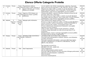 Elenco Offerte Categorie Protette