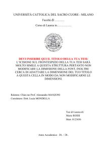 Unimi Calendario Tesi.Universita Commerciale Luigi Bocconi