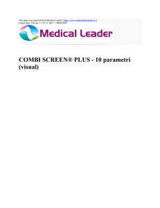 COMBI SCREEN® PLUS - 10 parametri (visual) : Medical Leader