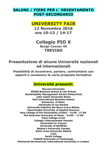 SALONI / FIERE PER L` ORIENTAMENTO POST