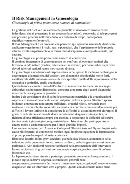 Il Risk Management in Ginecologia