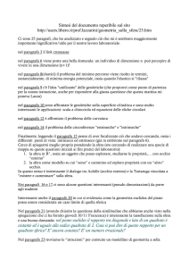Sintesi del documento reperibile sul sito http://users.libero.it/prof