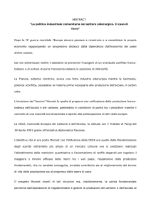 "ABSTRACT ""La politica industriale comunitaria nel settore"