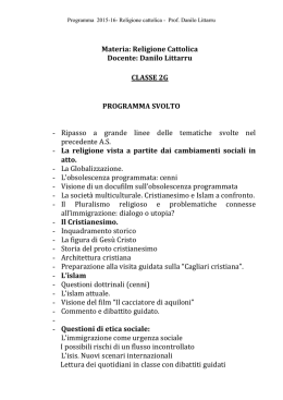 Religione - Liceo Scientifico Pitagora | Selargius