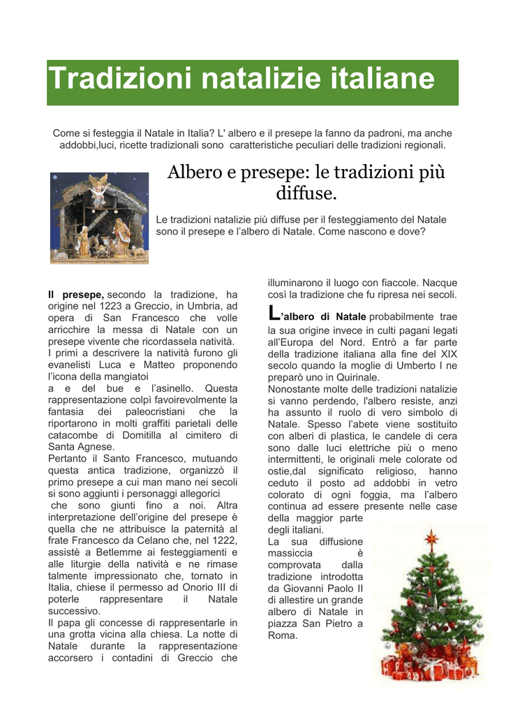 Tradizioni Natalizie Italiane Cierre
