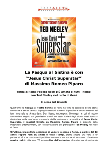 cs jesus christ superstar sistina pasqua 2017