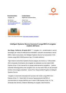 Announcing congatec*s first COM Express mini module with single