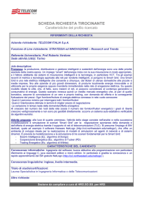 Profilo del *Product Manager new infrastructural