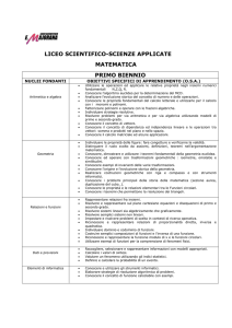 Matematica liceo scientifico e scienze applicate