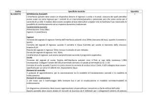 Codice Specifiche tecniche Quantità DL 2101T72 INTERFACCIA