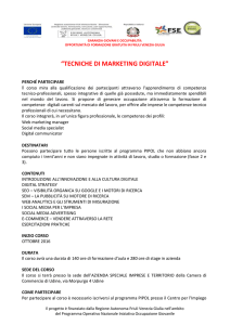 SchedaPON_Tecniche di marketing digitale