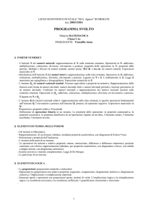 MATEMATICA 1As - Liceo Statale MG Agnesi
