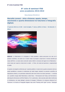 seminari scientifici - Liceo Giulio Casiraghi