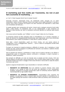 marketing anti crisi - Studio Maggiolo Pedini Associati