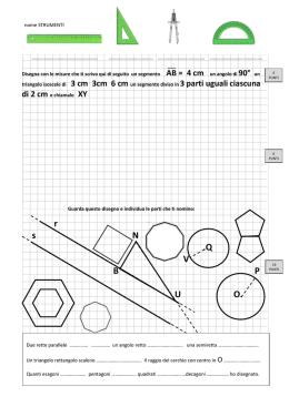 Somma degli angoli interni di un triangolo for Punto p esterno alla circonferenza