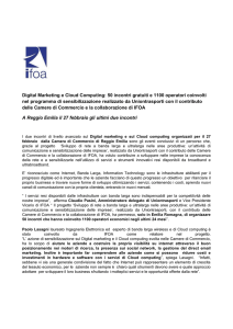 Digital Marketing e Cloud Computing: 50 incontri gratuiti e 1100
