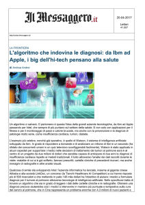 L`algoritmo che indovina le diagnosi: da Ibm ad Apple, i big
