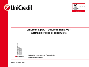 UniCredit S.p.A. – UniCredit Bank AG – Germania: Paese di