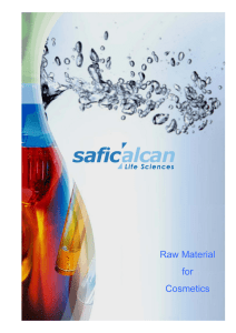 Raw Material for Cosmetics - Safic