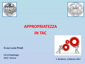 PINALI L. Appropriatezza in TAC