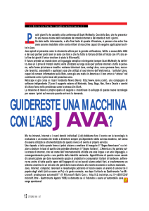 GUIDERESTE UNA MACCHINA CON L`ABS JAVA?