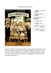 Francia, 1949. Un compositore fallito, interpretato da Gerard Juniot