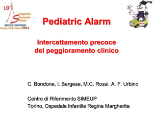 Pediatric Alarm. Intercettamento precoce del