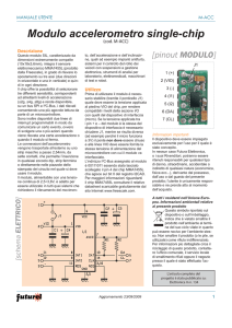Modulo accelerometro single-chip