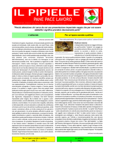 PANE PACE LAVORO