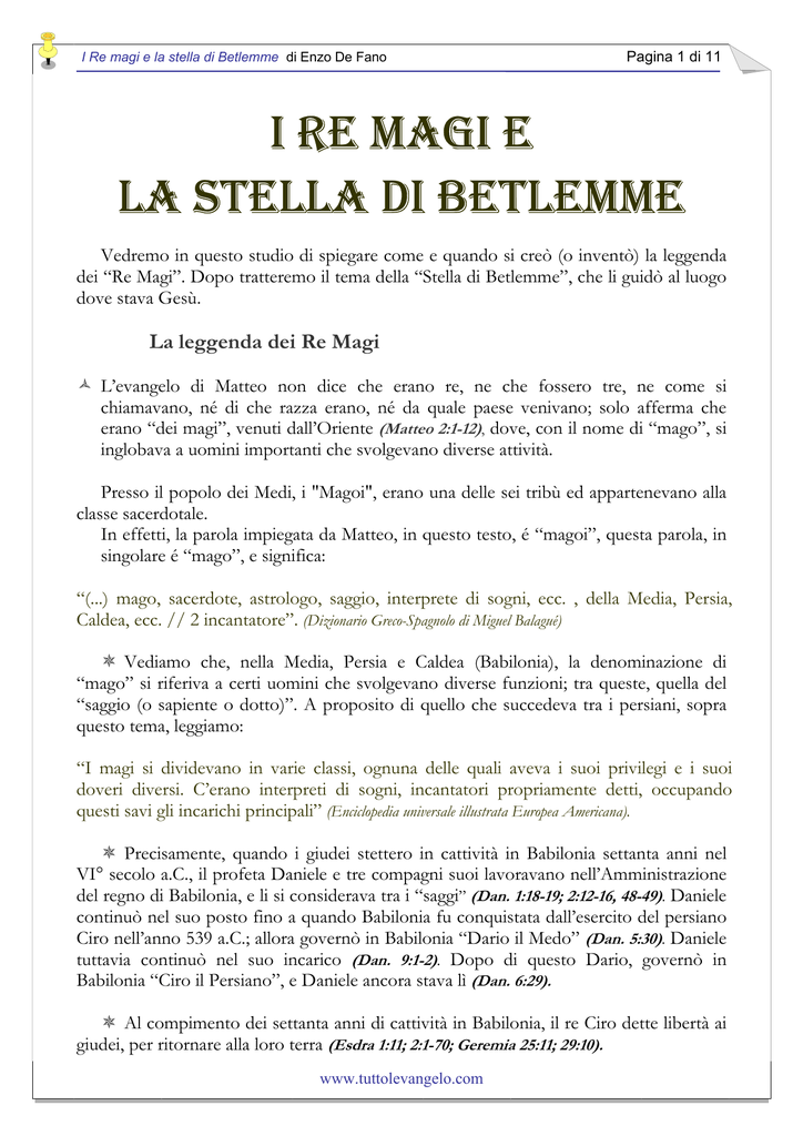 I Re Magi E La Stella Di Betlemme