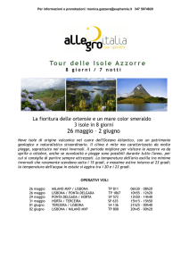 Tour delle Isole Azzorre - Personal Voyager