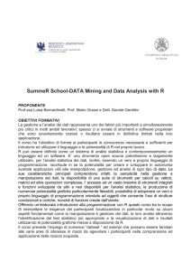 SummeR School-DATA Mining and Data Analysis with R