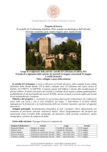 Il castello di Carbonana (Gubbio, PG): analisi archeologica dell