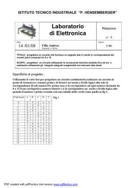 Laboratorio di Elettronica - Digilander